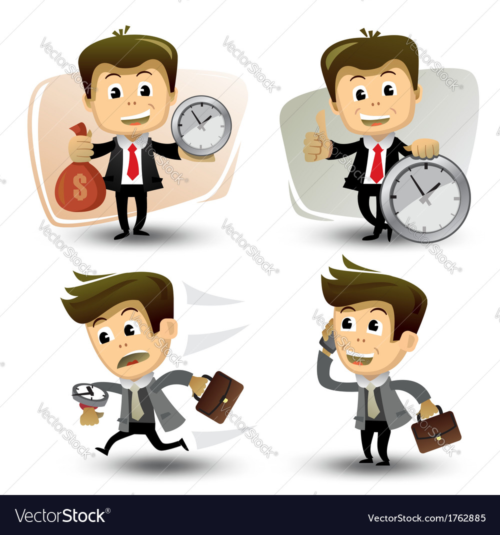 Businessman in various poses vector   Price: 1 Credit (USD $1)