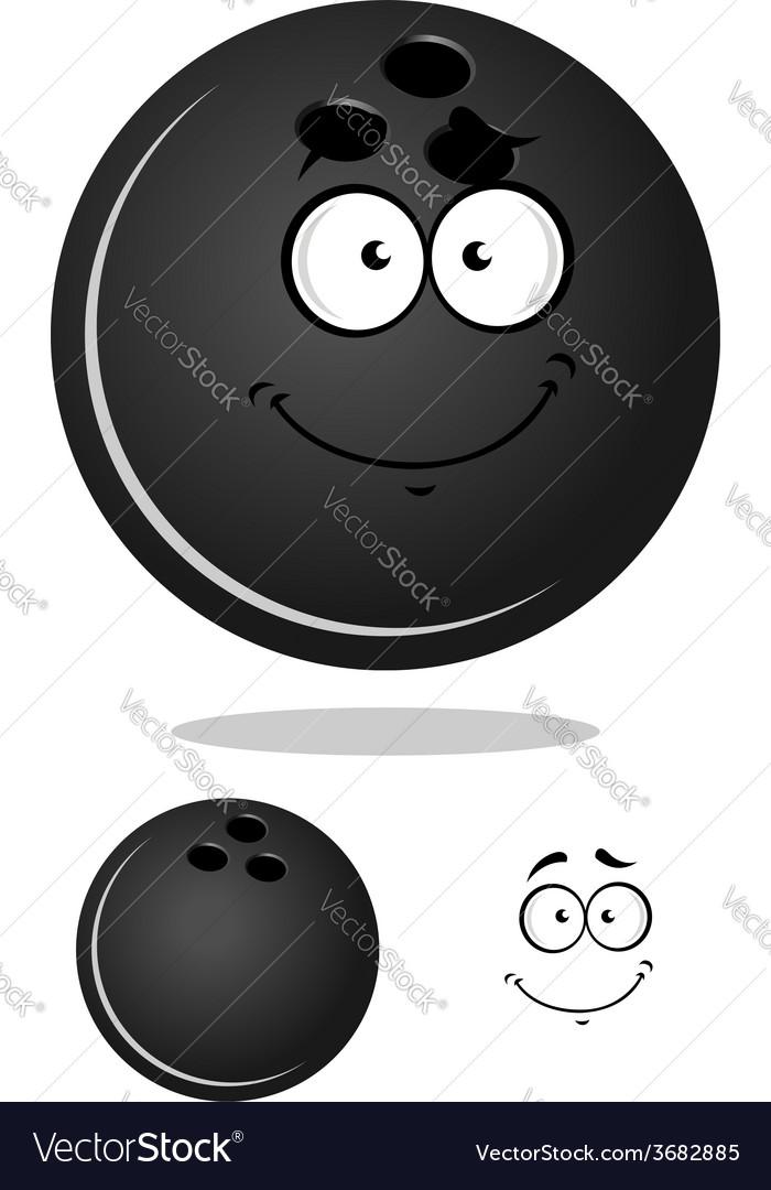Dark gray cartoon bowling ball vector | Price: 1 Credit (USD $1)