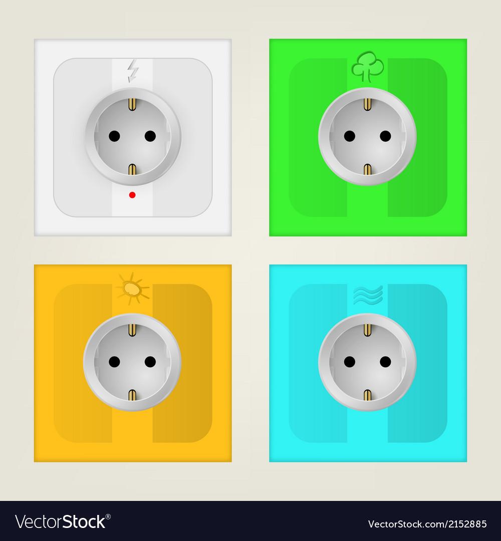 Eco sockets vector | Price: 1 Credit (USD $1)