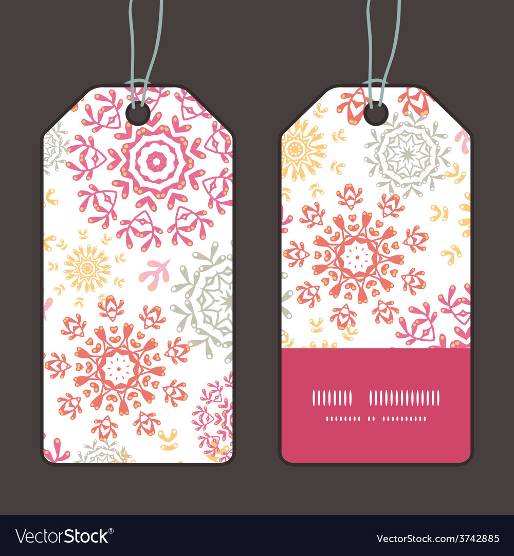 Folk floral circles abstract vertical vector | Price: 1 Credit (USD $1)