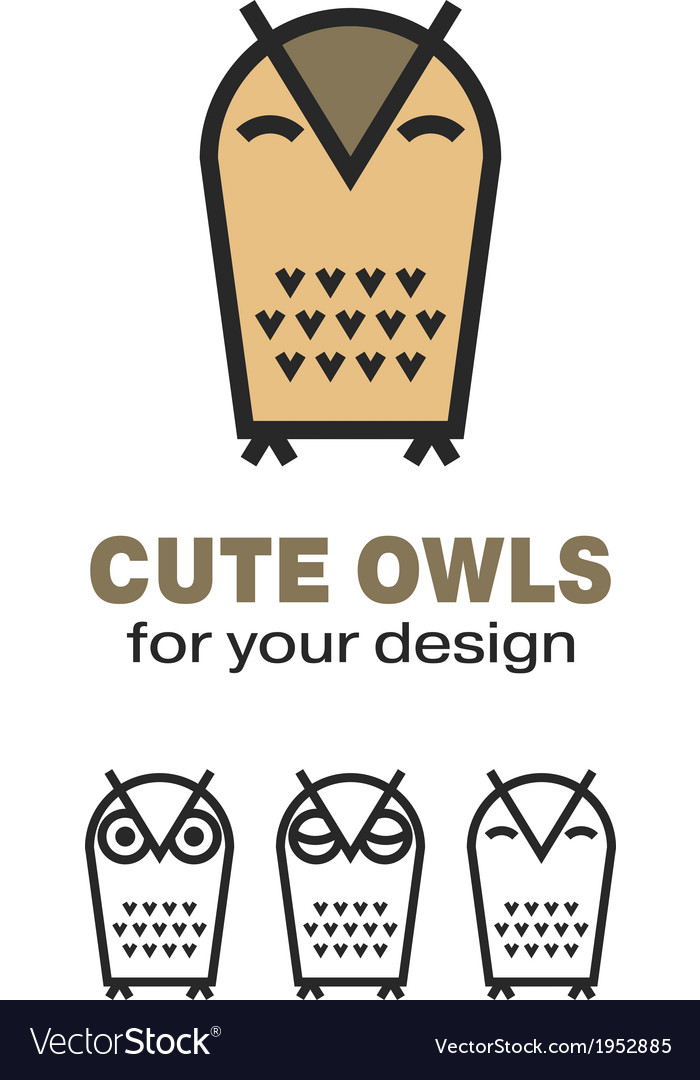 Owl icons vector