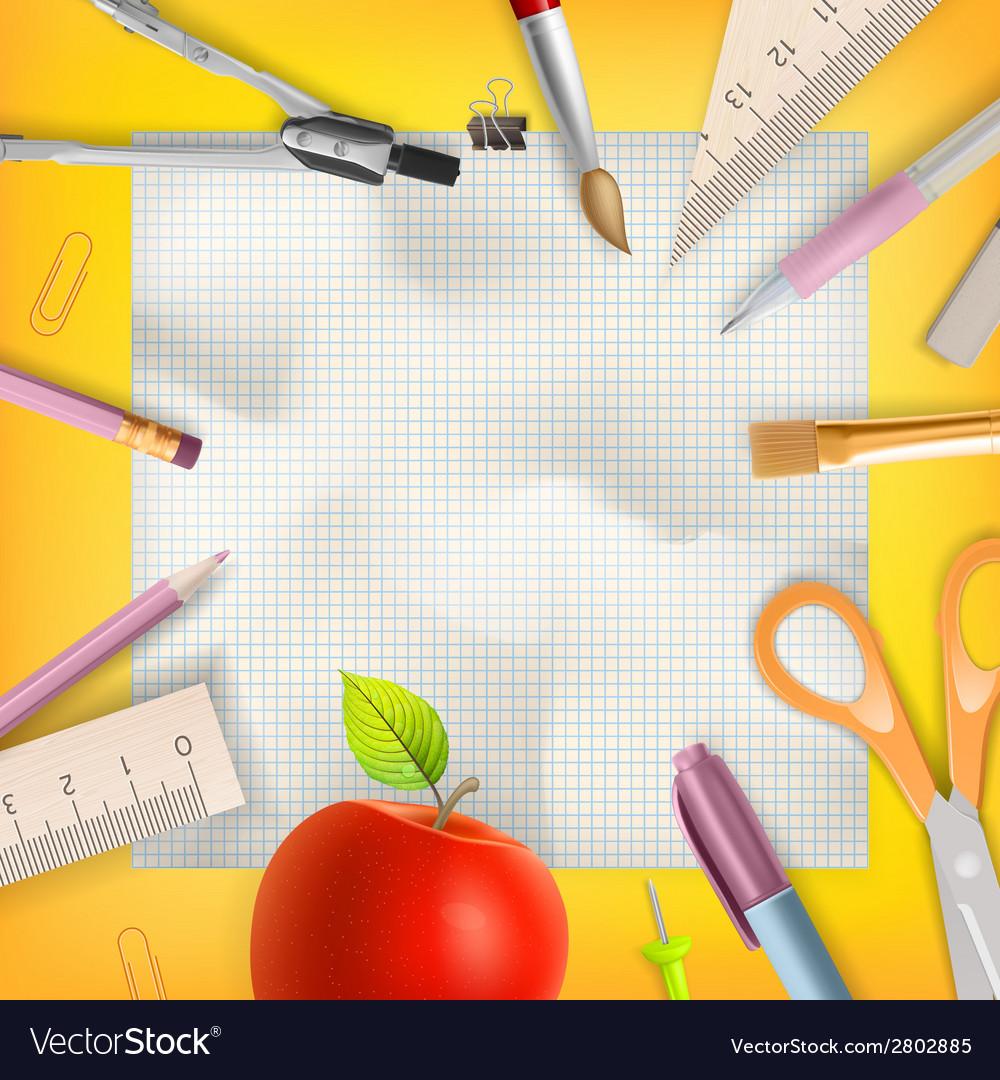 School season invitation template eps 10 vector   Price: 1 Credit (USD $1)