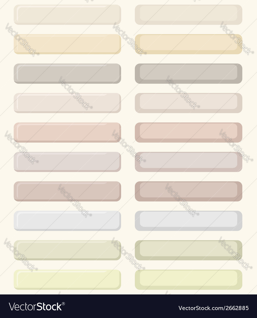 Set of pastel buttons vector | Price: 1 Credit (USD $1)