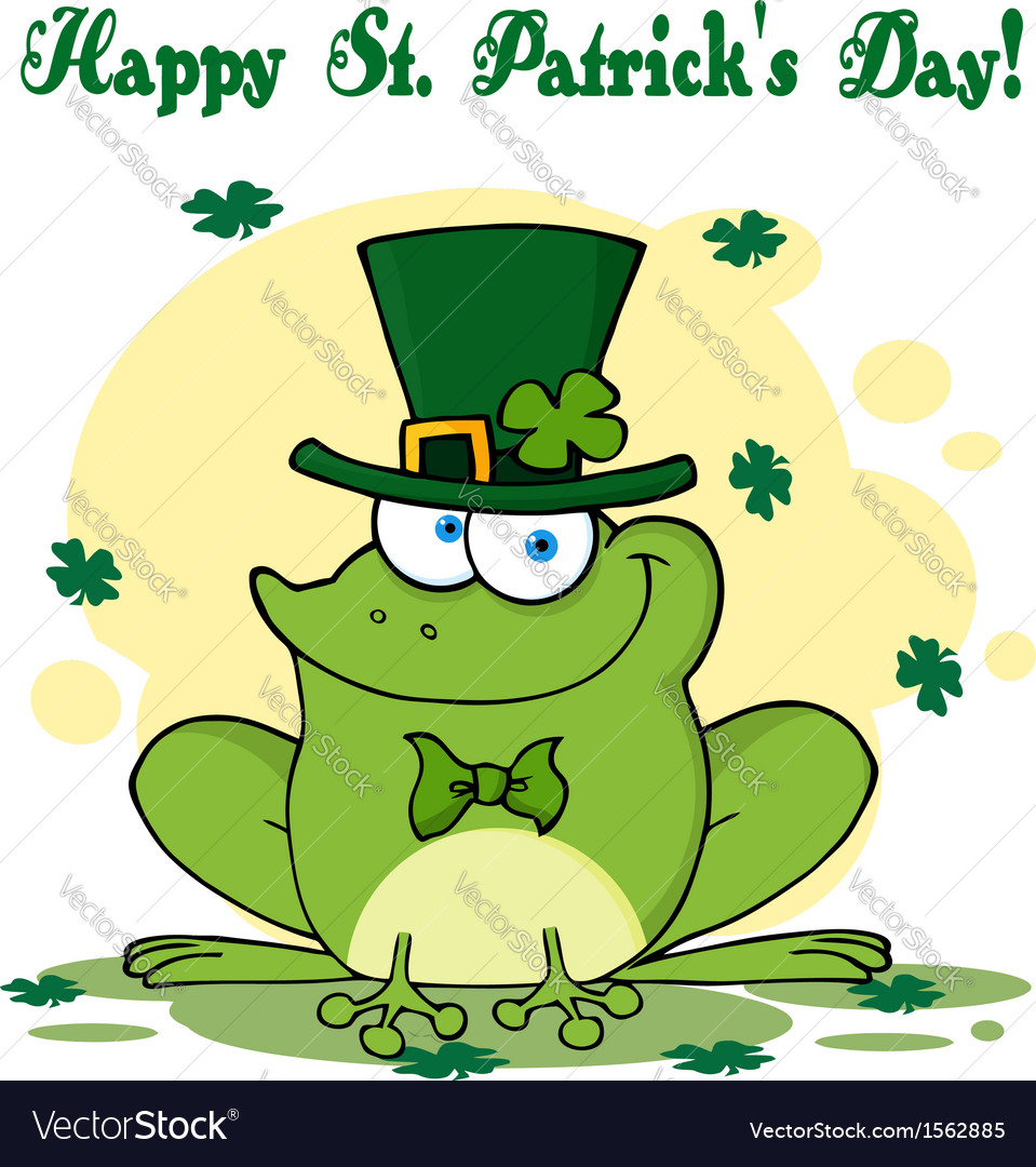 St patricks day frog vector