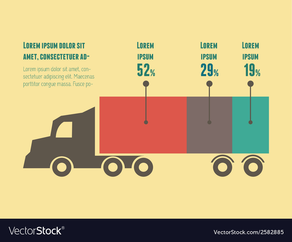Transportation infographic element vector | Price: 1 Credit (USD $1)