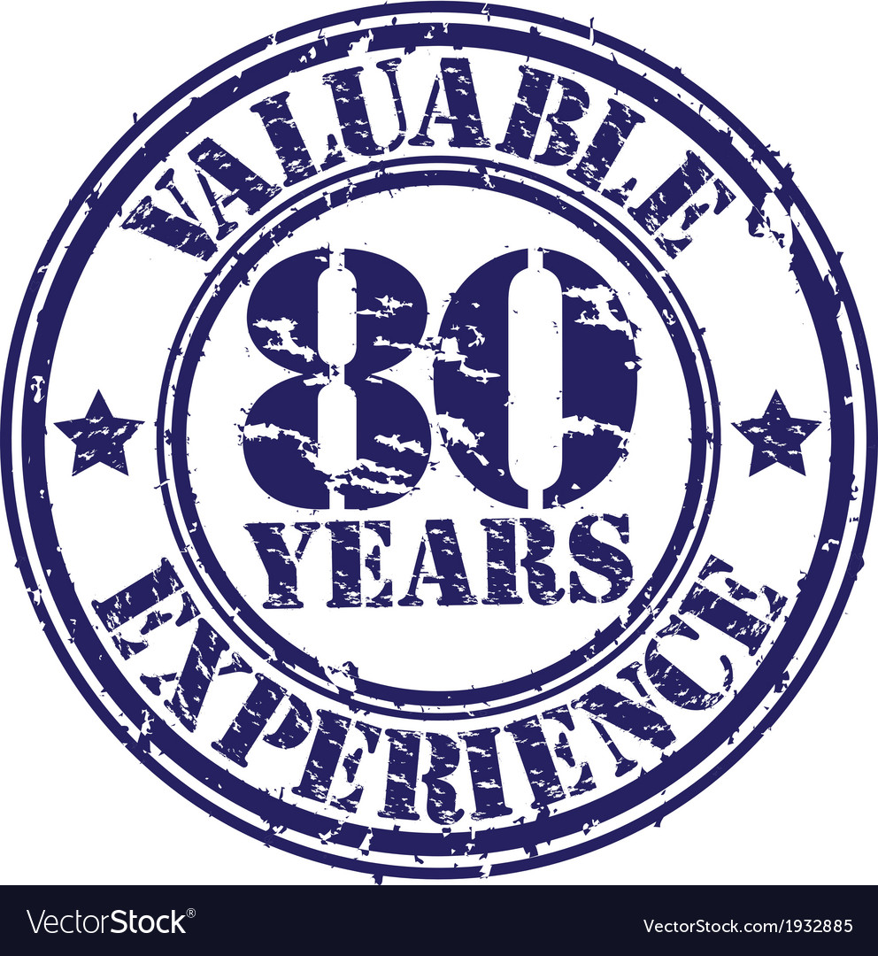 Valuable 80 years of experience rubber stamp vect vector | Price: 1 Credit (USD $1)