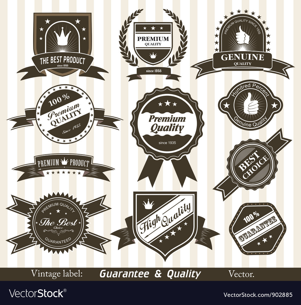 Vintage styled labels vector | Price: 1 Credit (USD $1)