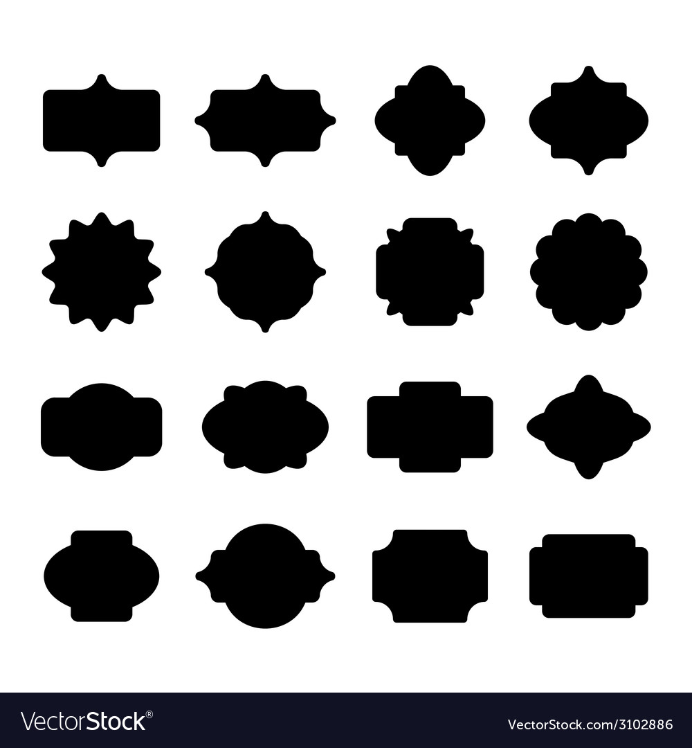 Blank label and border set vector | Price: 1 Credit (USD $1)
