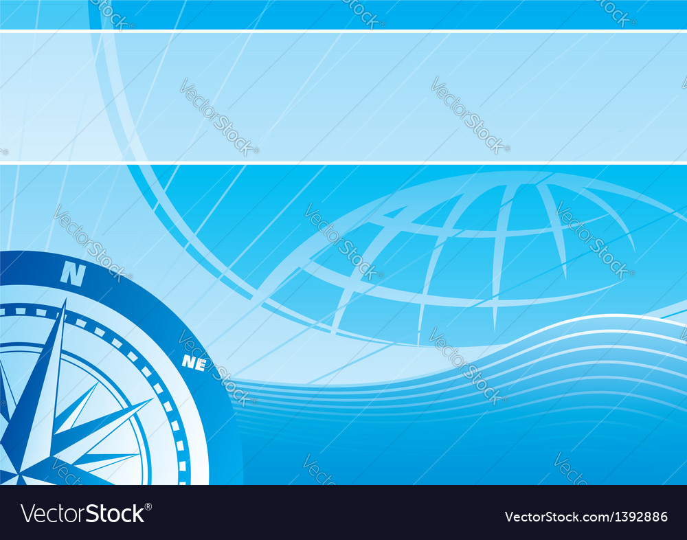 Blue travel background vector | Price: 1 Credit (USD $1)