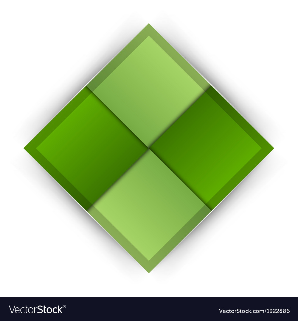 Business four squares green vector | Price: 1 Credit (USD $1)