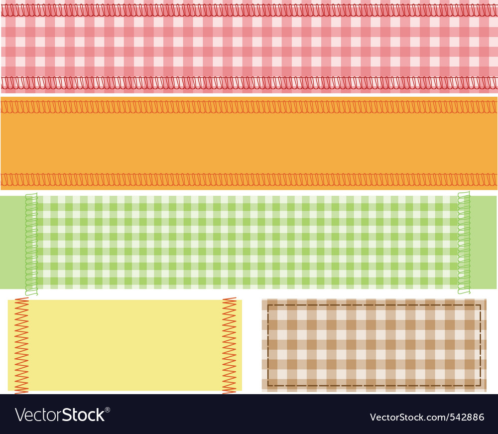 Checkered fabric gingham vector | Price: 1 Credit (USD $1)