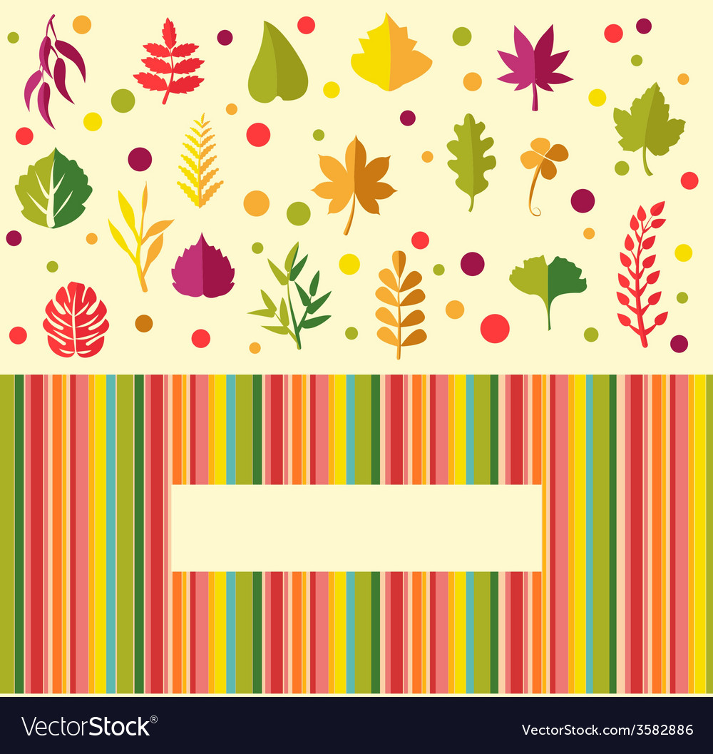 Colorful leaves in flat design vector | Price: 1 Credit (USD $1)