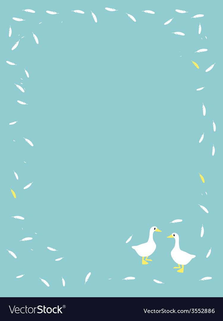 Cute cartoon goose animal background vector | Price: 1 Credit (USD $1)