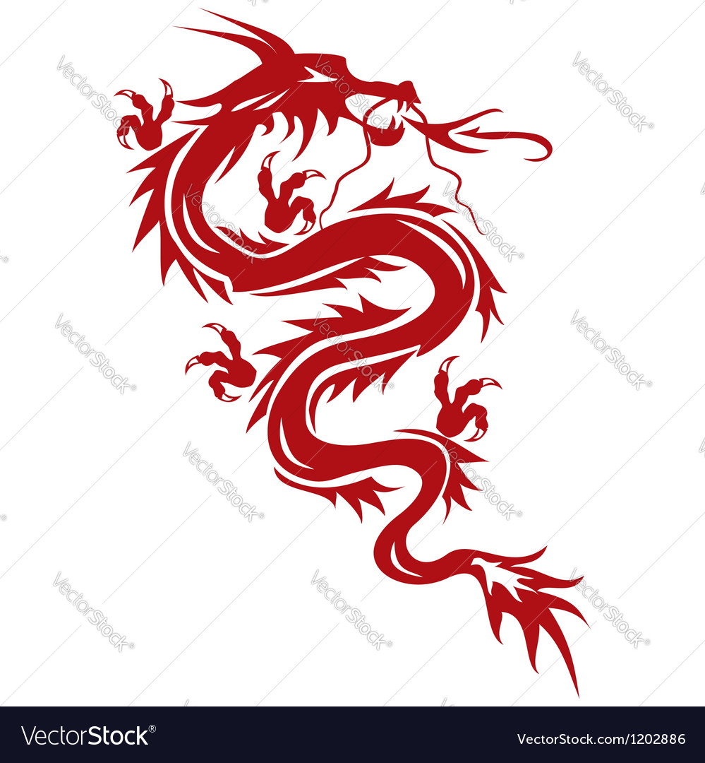 Dragon a symbol of oriental culture vector | Price: 1 Credit (USD $1)