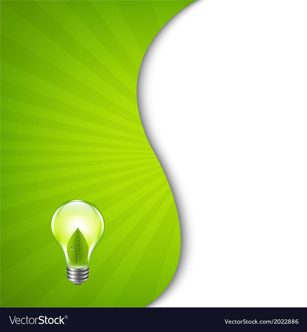 Green burst poster with bulb vector | Price: 1 Credit (USD $1)