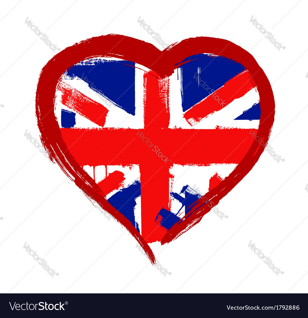 I love britain vector | Price: 1 Credit (USD $1)
