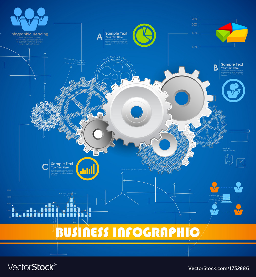 Industrial infographics chart vector | Price: 1 Credit (USD $1)