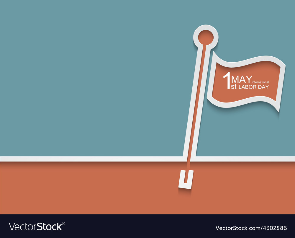 Modern 1 may international labour day vector   Price: 1 Credit (USD $1)