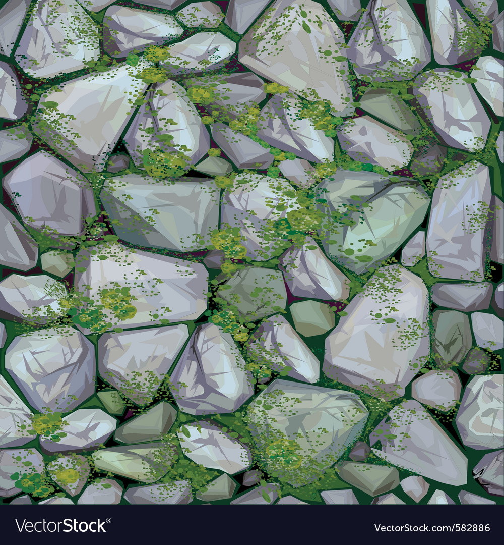 Mossy stone seamless texture vector   Price: 3 Credit (USD $3)