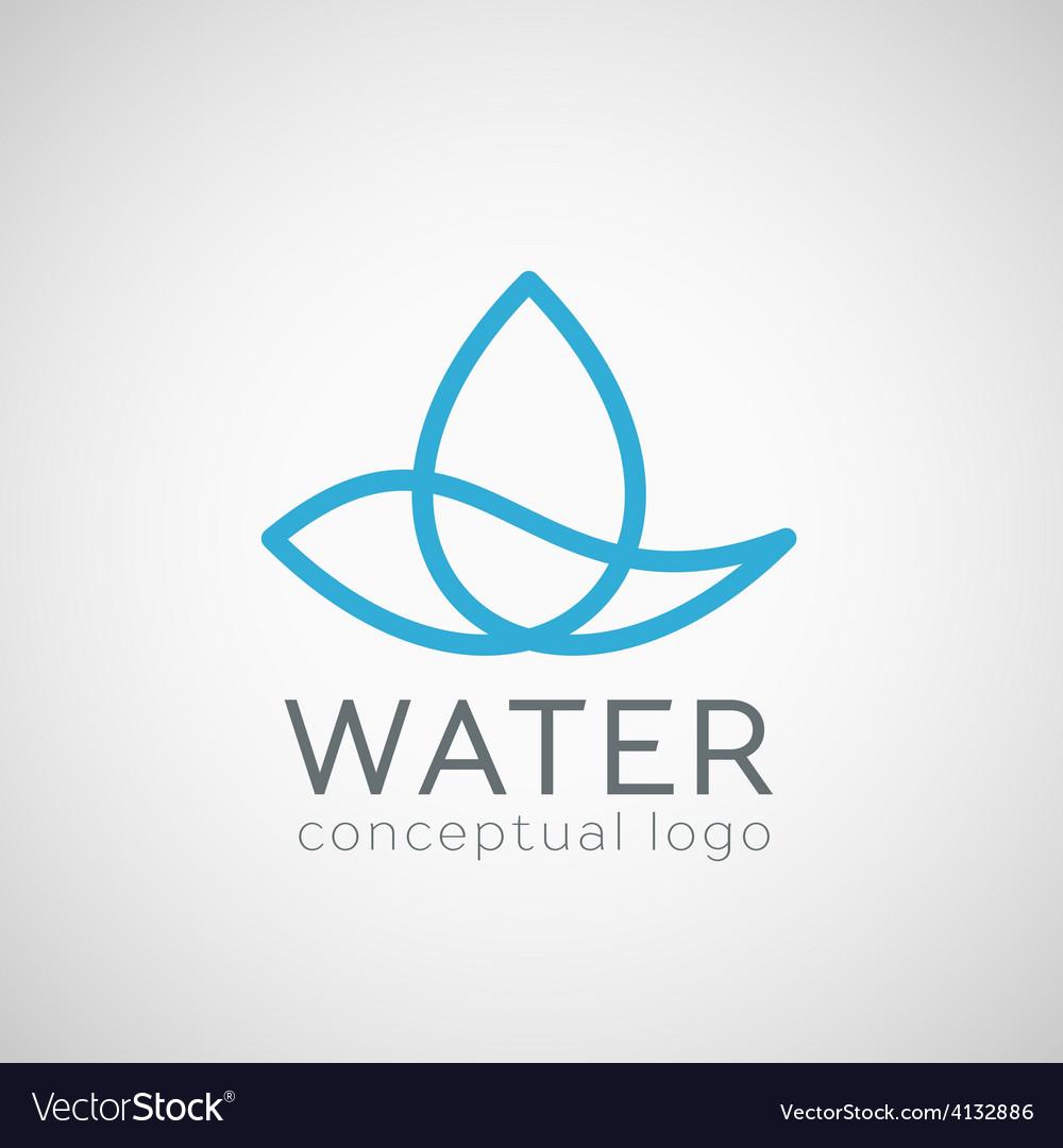Water drop icon vector | Price: 1 Credit (USD $1)