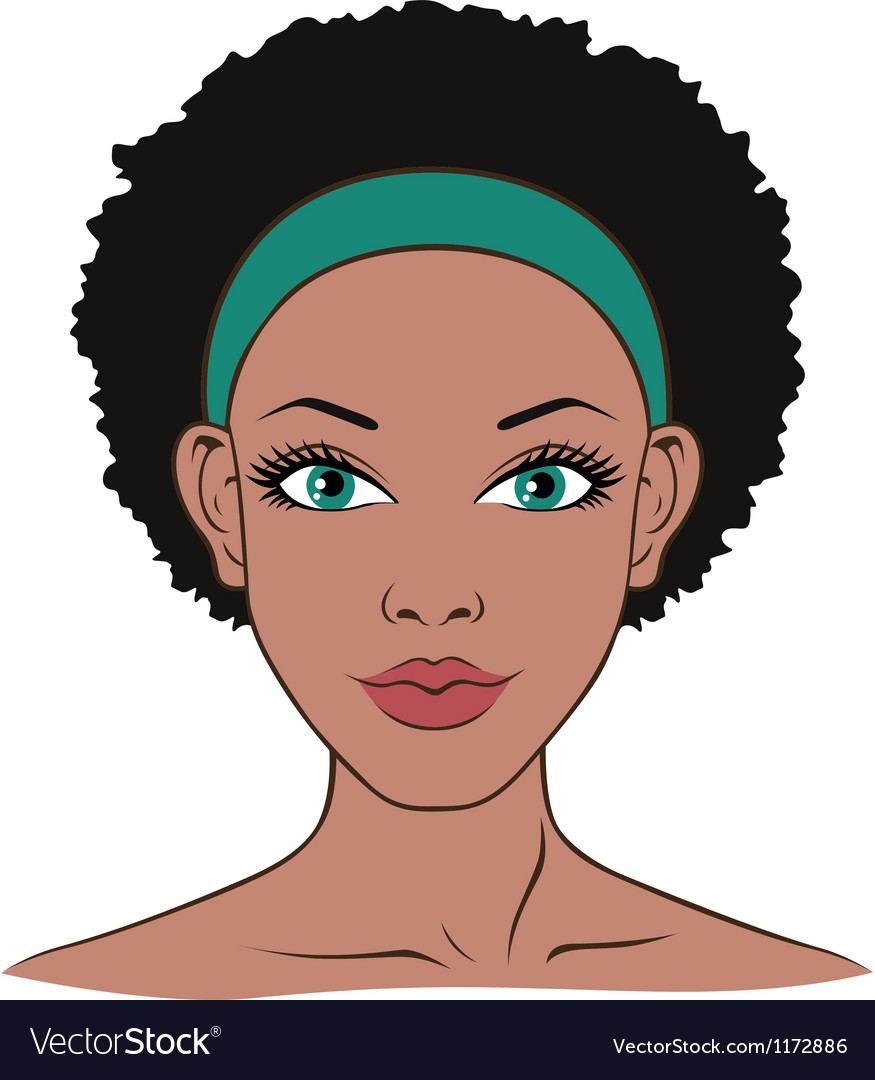 Woman face closeup vector | Price: 3 Credit (USD $3)