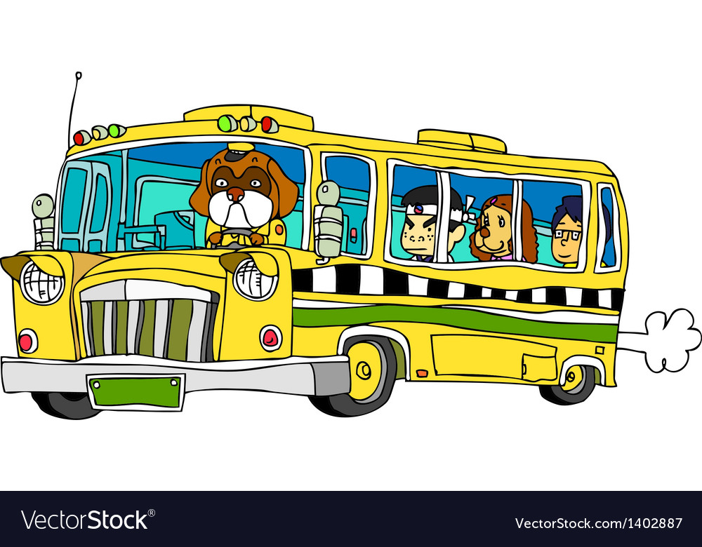 A running bus vector | Price: 1 Credit (USD $1)