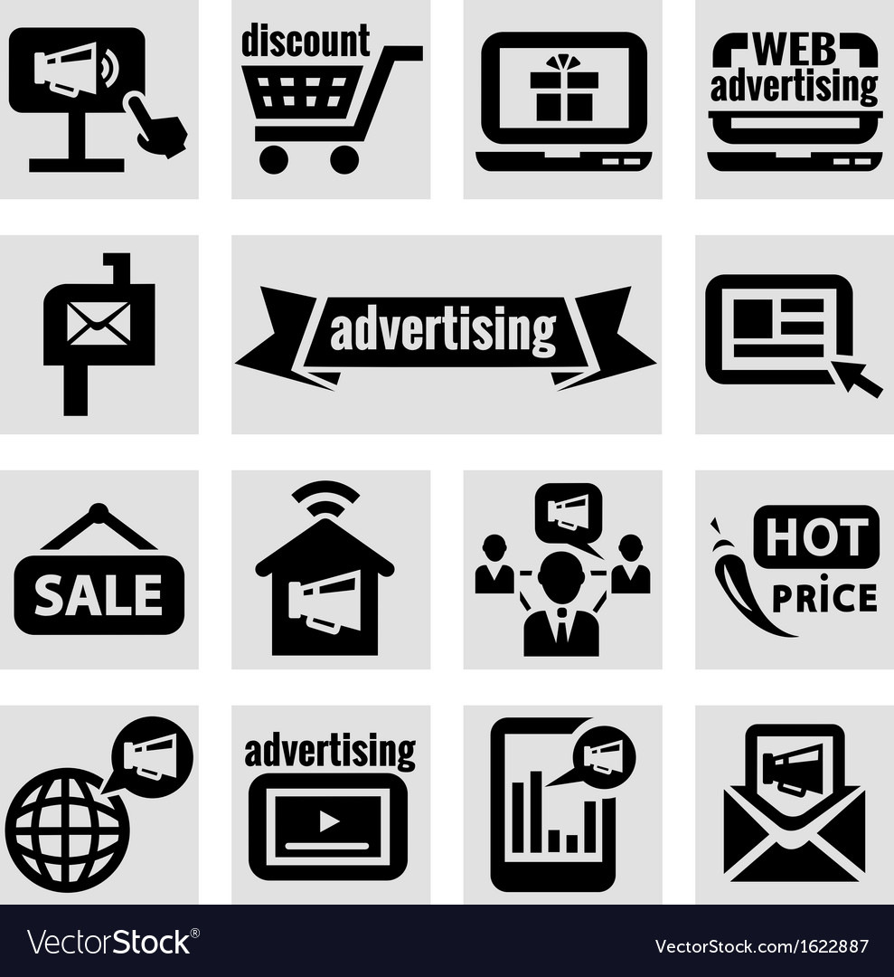 Advertising icons vector | Price: 1 Credit (USD $1)