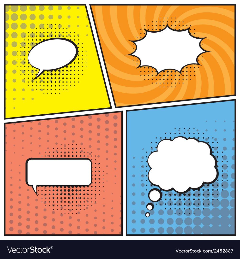 Blank speech bubbles vector | Price: 1 Credit (USD $1)