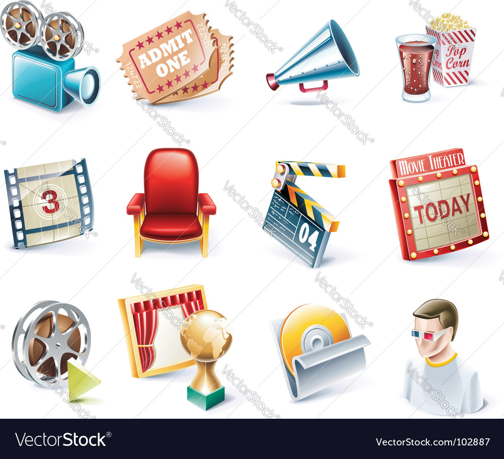 Cartoon icons vector | Price: 3 Credit (USD $3)