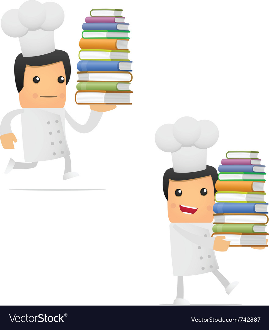 Chef with books vector | Price: 1 Credit (USD $1)
