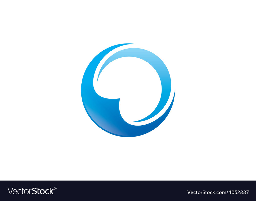 Circle round abstract business logo vector | Price: 1 Credit (USD $1)