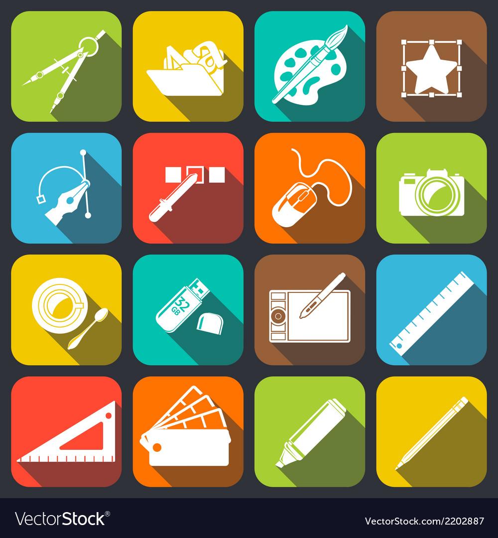 Designer tools icons vector | Price: 1 Credit (USD $1)