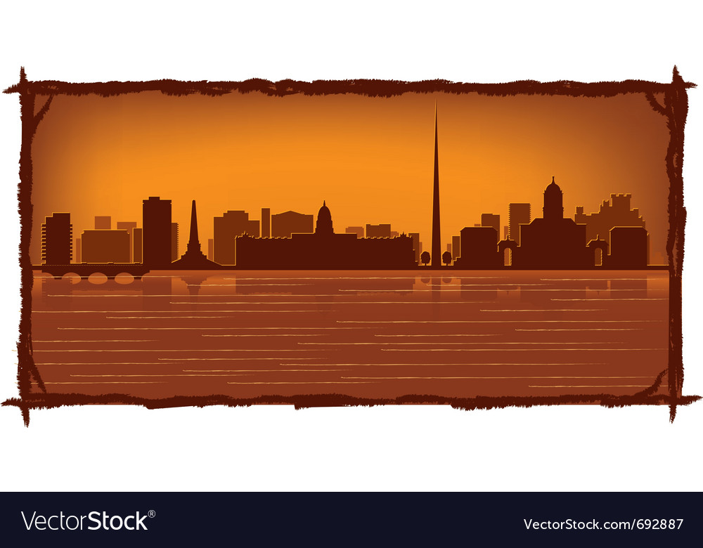 Dublin ireland vector | Price: 1 Credit (USD $1)