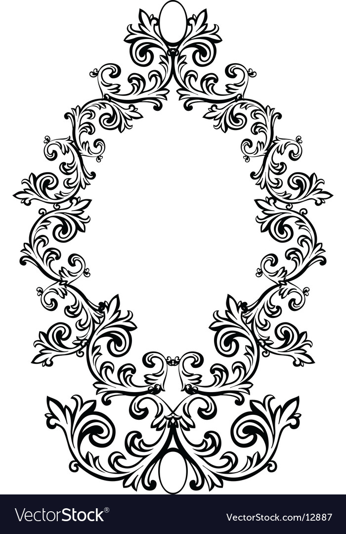 Floral frame vector | Price: 1 Credit (USD $1)