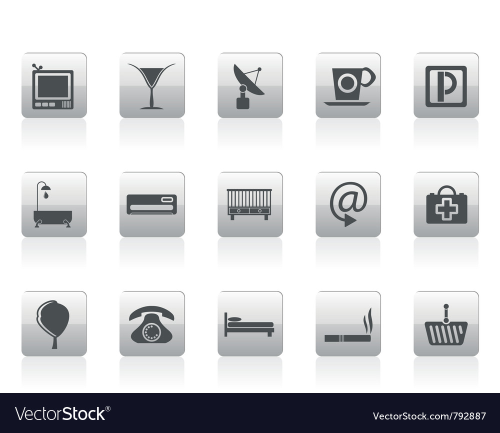 Hotel and motel icons vector | Price: 1 Credit (USD $1)