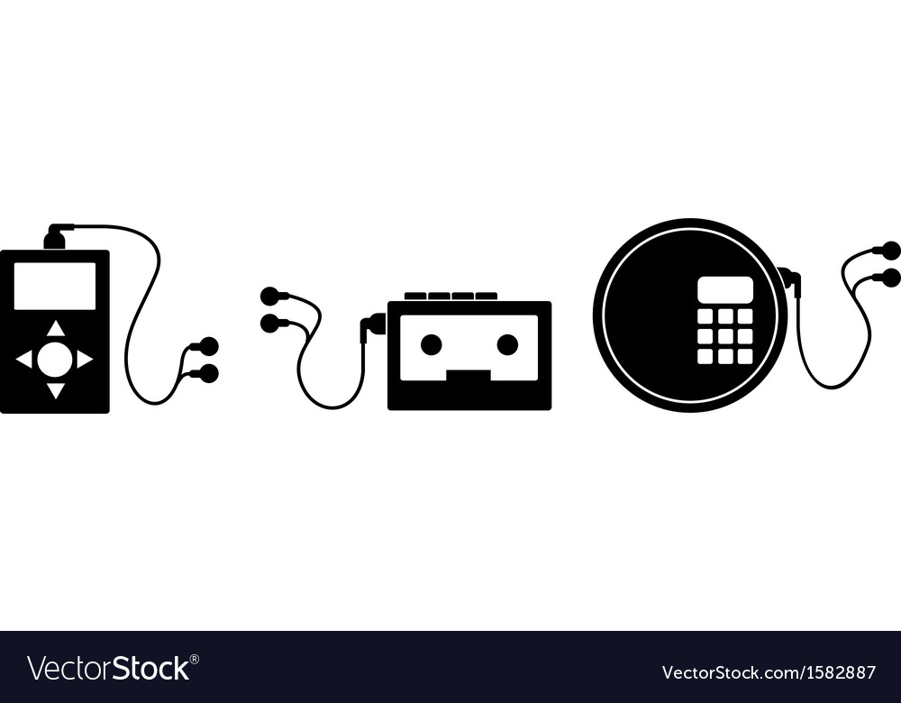 Music device vector | Price: 1 Credit (USD $1)