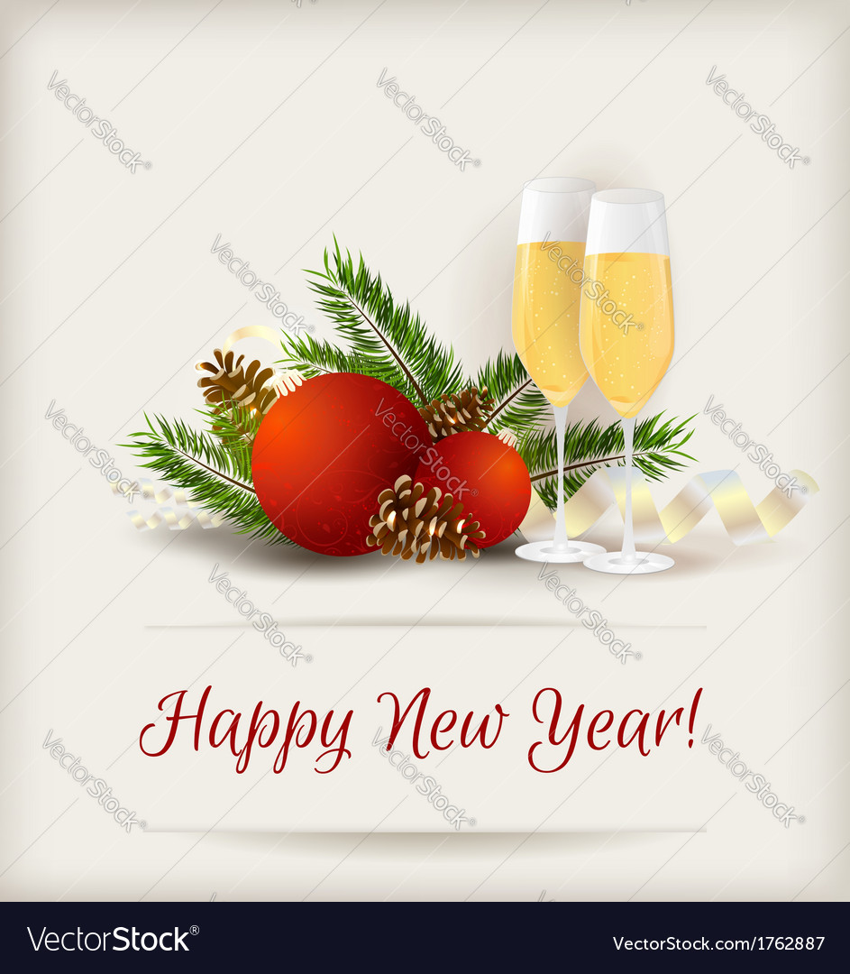 New year champagne vector | Price: 1 Credit (USD $1)