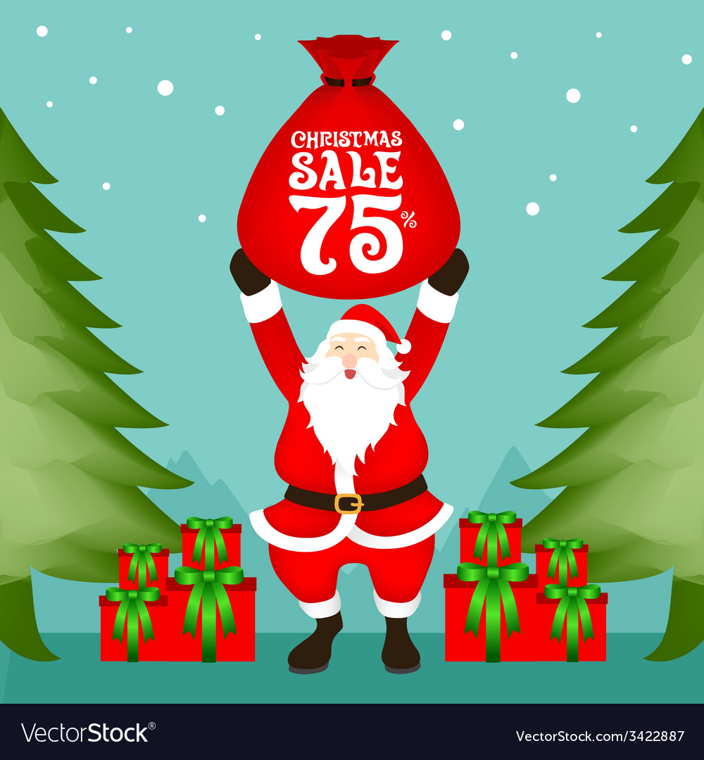 Santa christmas sale vector | Price: 1 Credit (USD $1)