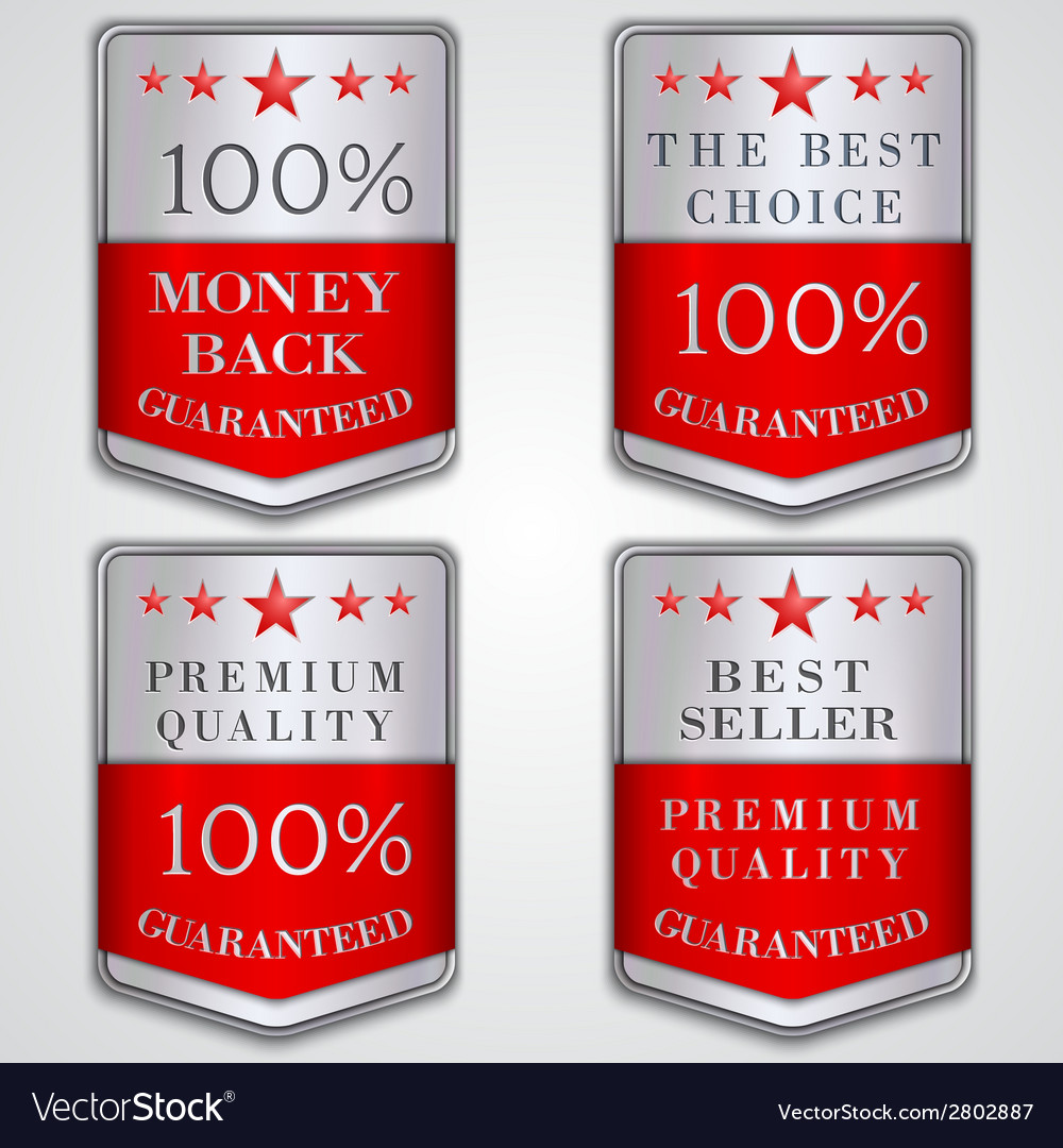 Silver badge label set with premium quality and vector | Price: 1 Credit (USD $1)