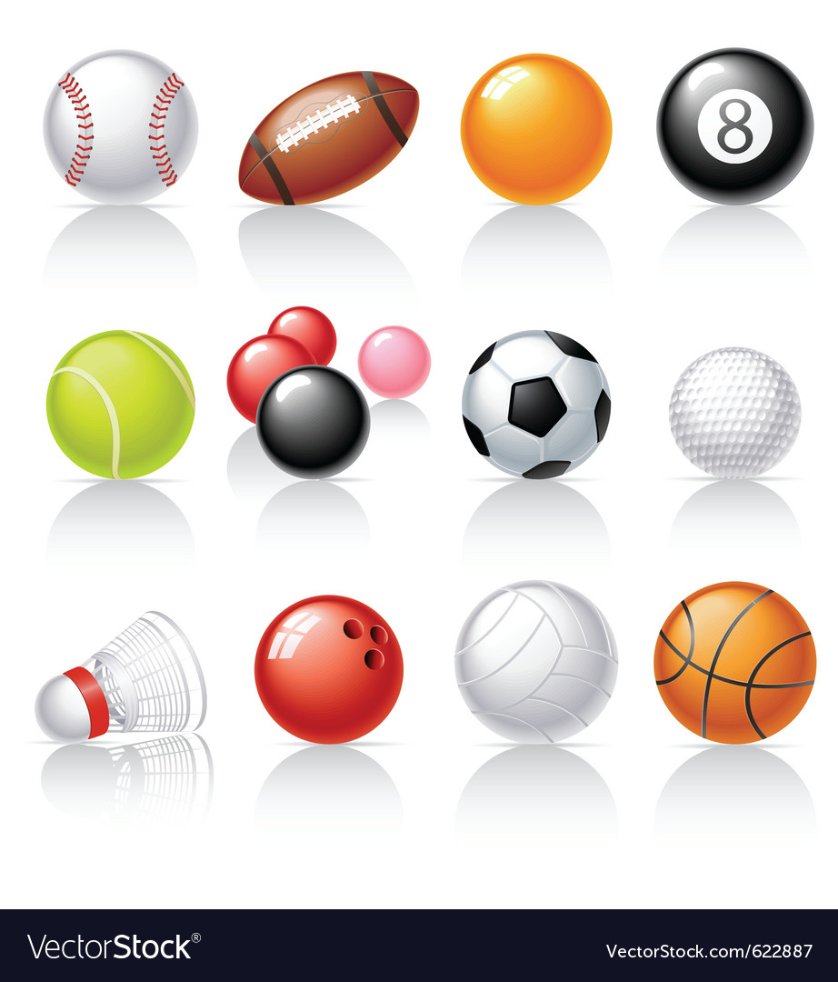Sport equipment icons vector | Price: 1 Credit (USD $1)