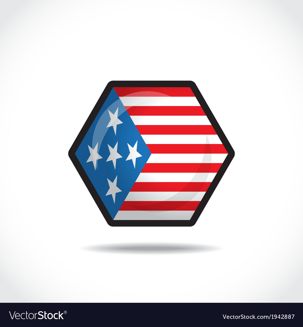 Usa flag icon vector | Price: 1 Credit (USD $1)