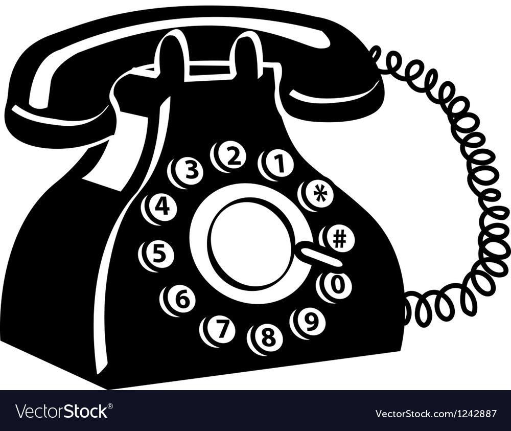 Vintage telephone vector | Price: 1 Credit (USD $1)