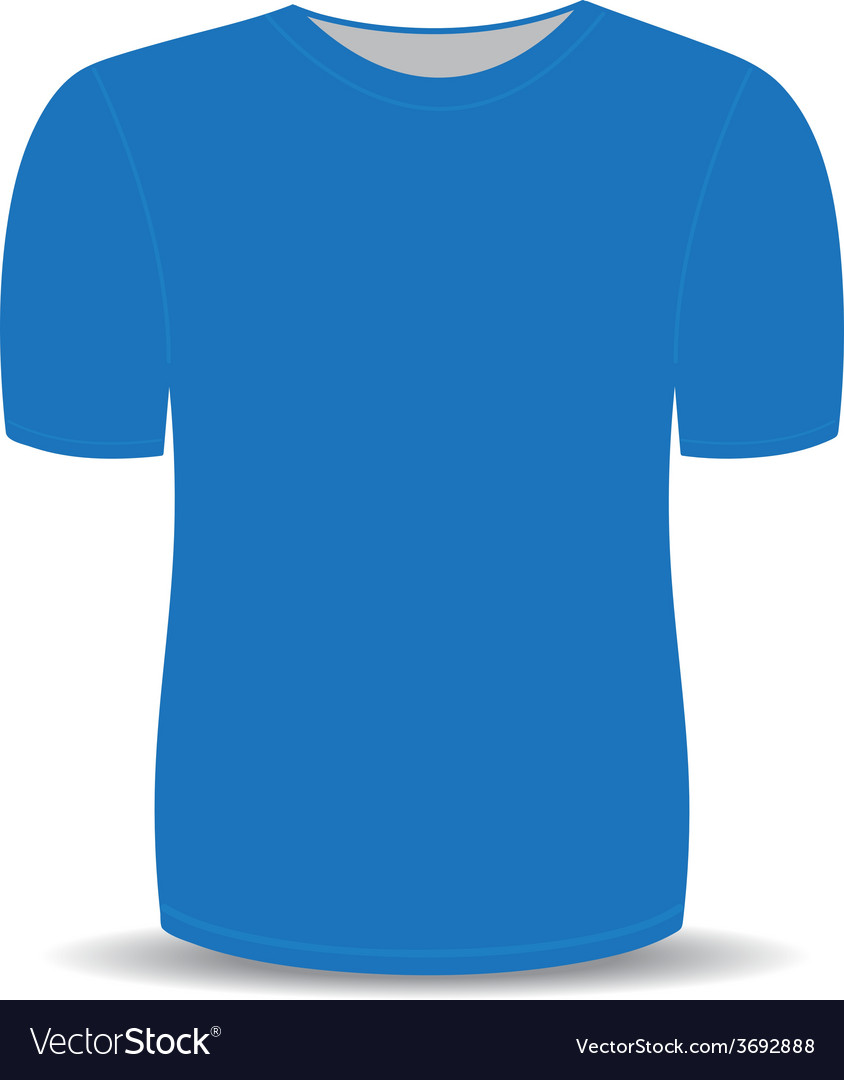 Blank t shirt blue template vector | Price: 1 Credit (USD $1)