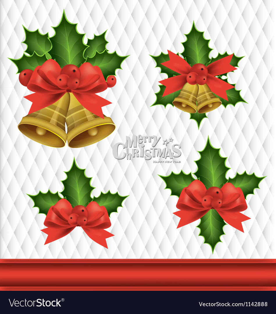 Christmas bells element background vector | Price: 1 Credit (USD $1)