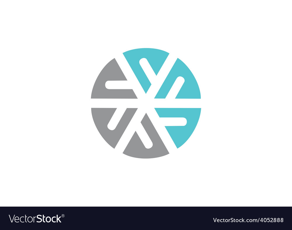 Circle round abstract geometry logo vector | Price: 1 Credit (USD $1)