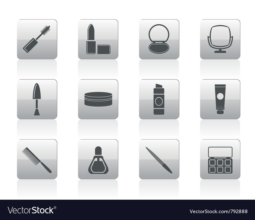 Cosmetic and make up icons vector | Price: 1 Credit (USD $1)