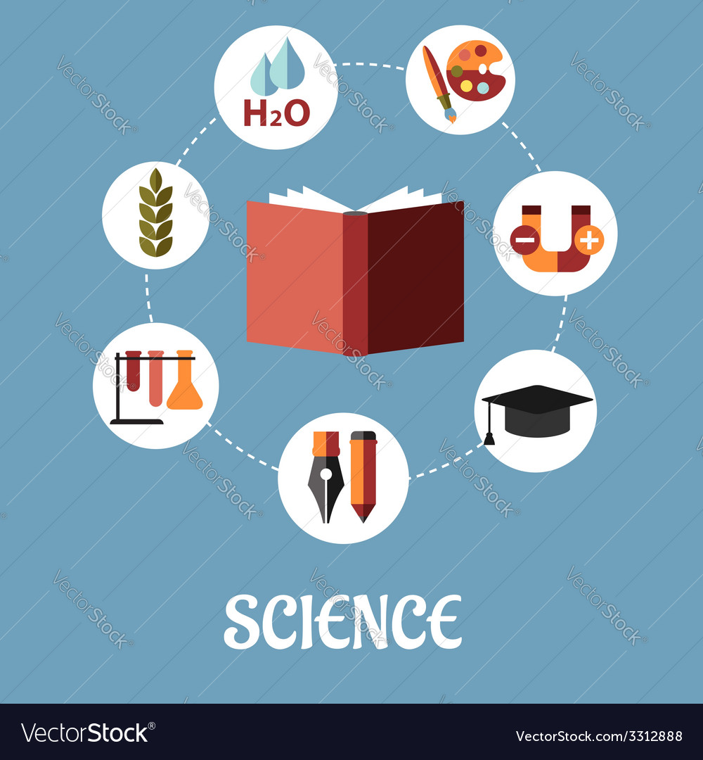 Education and science flat design vector | Price: 1 Credit (USD $1)