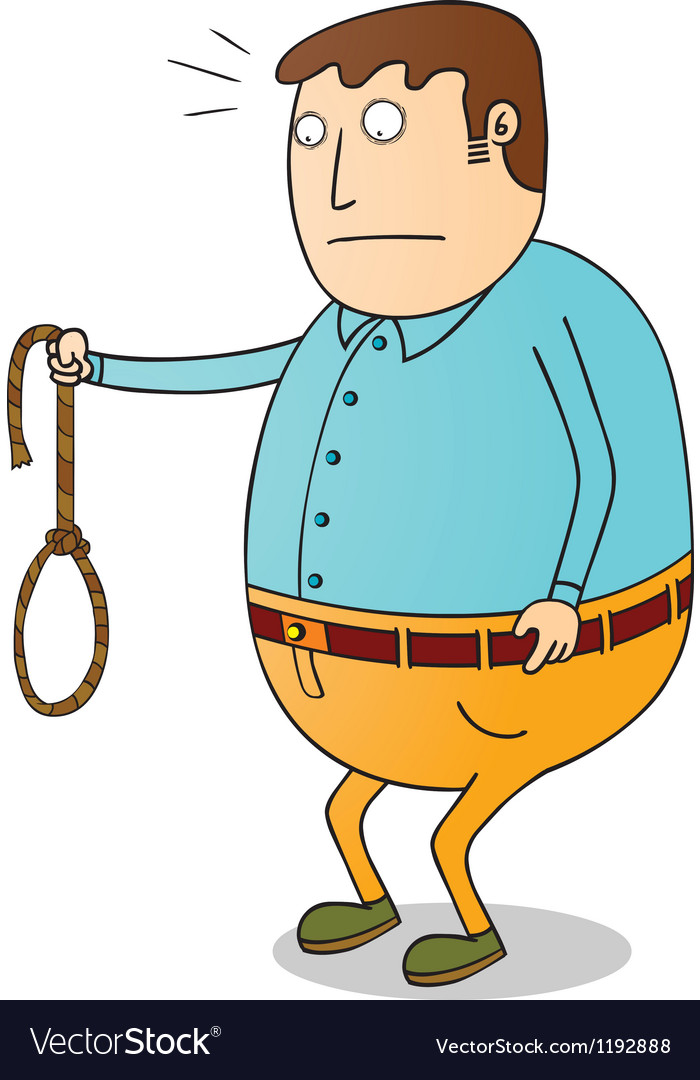 Man with rope vector | Price: 1 Credit (USD $1)