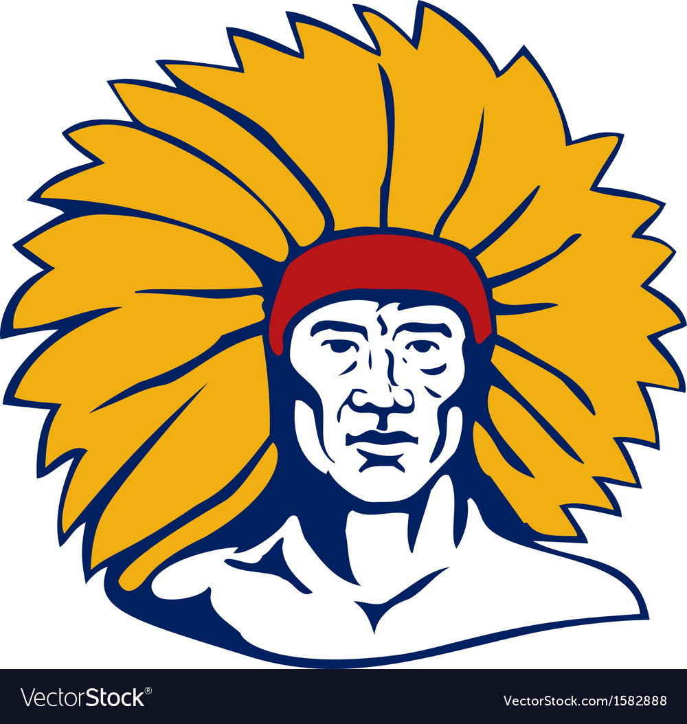 Native american chief vector | Price: 1 Credit (USD $1)