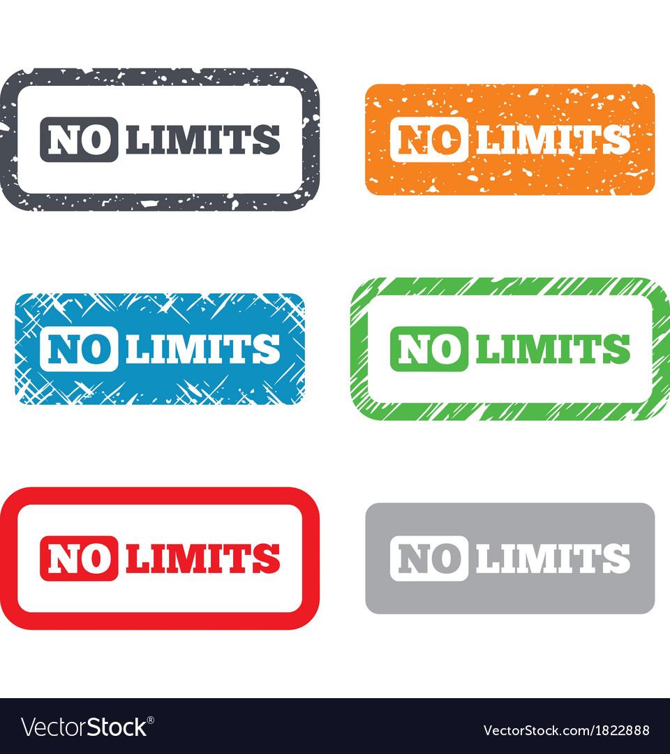 No limit sign icon unlimited symbol vector   Price: 1 Credit (USD $1)